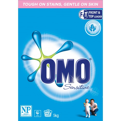 OMO Front and Top Loader Sensitive Laundry Powder 2 x 5kg